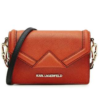 Karl lagerfeld Klassik Super Mini Leather Shoulder Bag