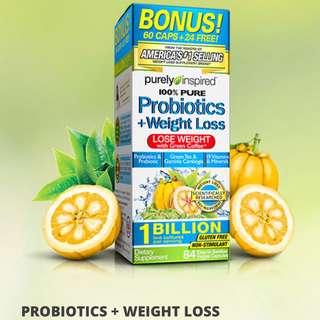 代購Purely Inspired, Probiotic + Weight Loss, 84 Veggie Capsules