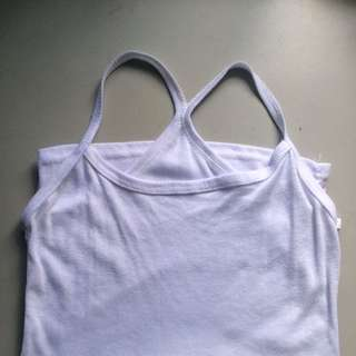 Cross Back White Sleeveless Top #Bajet20