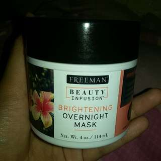 Freeman infusion brightening overnight mask
