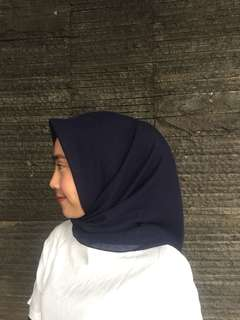 Hijab polly cotton navy