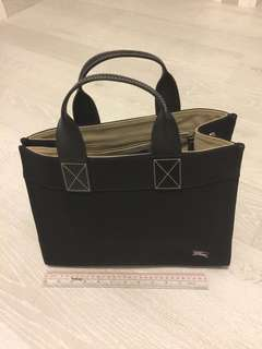 Burberry Black bag, A4 size is ok