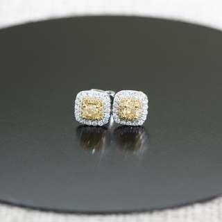 MAE20343A 18K白金/黃金雙色碎鑽耳環