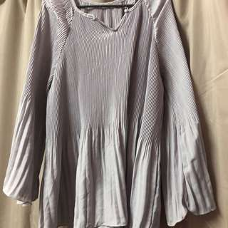 Gorgeous Pleated Blouse - Big Size