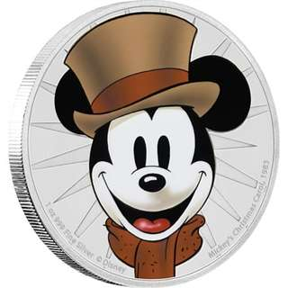 Mickey Through the Ages - Mickey's Christmas Carol 1 oz Silver Proof Coin