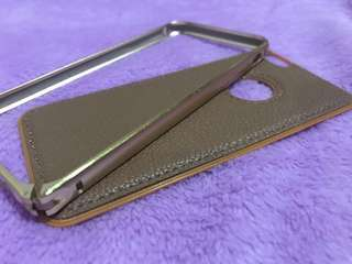 CUCI GUDANG iPhone6 Case Gold leather-steel