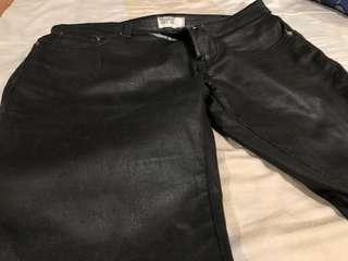 Pull & Bear Men's Skinny leather pants