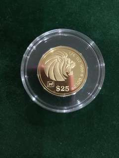 Singapore 1994 1/4oz gold coin
