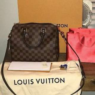 Authentic Louis Vuitton LV Speedy 25 Bandouliere