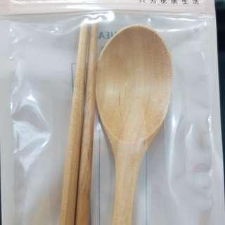 Sumpit N sendok Kayu