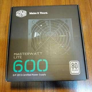 BNIB PSU Coolermaster Masterwatt Lite 600w