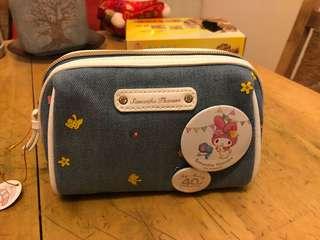 Samantha x My Melody 40週年牛仔布化妝袋,正版正貨連麈袋,購物紙袋