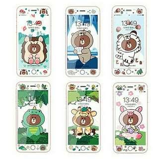 Line friend長頸鹿/恐龍 screen protector(mon貼)