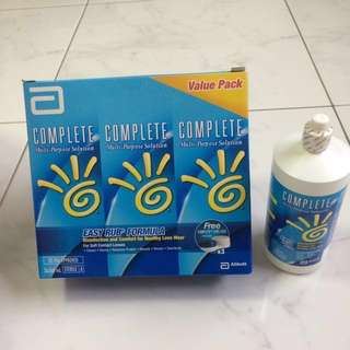 Contact Lens Solution with Lens Case
