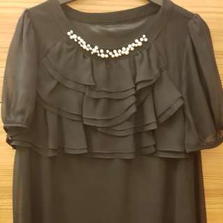 Korean black blouse