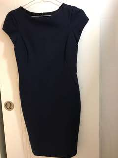 Dress 🈹🈹🈹 Zara Basic size M - dark blue