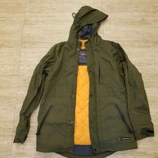 Pull and Bear 2 in 1 army military jacket