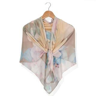 ALLURA Cotton Voile Scarves/Hijab - SPEED OF LIGHT Yellow