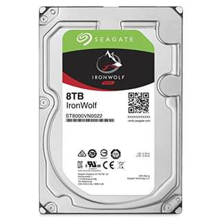 "Seagate 8TB IronWolf NAS SATA 6Gb/s 7200RPM 256MB Cache 3.5"" Internal Hard Disk Drive"