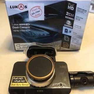 Lukas Car dash camera gps 2ch front & rear (blackbox)