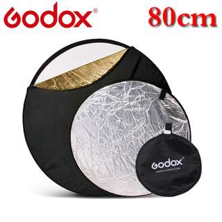 "Godox 80cm 80 cm 32"" 5 in 1 Collapsible portable Lighting Flash Diffuser Round Reflector Silver Gold Black white"