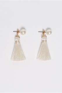 BNIB LB Nosherie Pearl Tassel Earrings