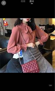 [P.O] Korean Style Chic Blouse Top