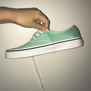 mint green vans shoes