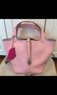 Hermes sakura pink picotin bag