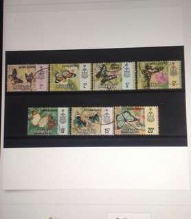 Malaysia 1971 Penang Butterfly Series 7v Used & Mint (M1106)
