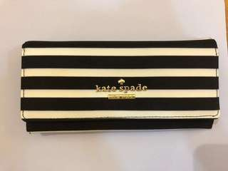 Kate Spade Wallet - Black and White Stripes