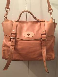 Mulberry Light Pink / Beige Handbag (soft buffa)