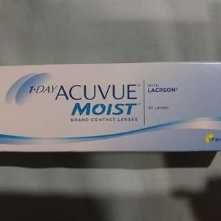 1 Day Acuvue Moist Contact Lenses (5 Boxes)