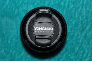 YongNuo YN 50mm f1.8 for Canon