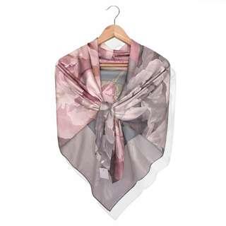 ALLURA Silk Scarves/Hijab - GOOD FORTUNE Polychrome
