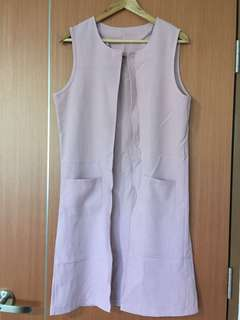 DONATION DRIVE: Pink Structured Sleeveless Long cardigan