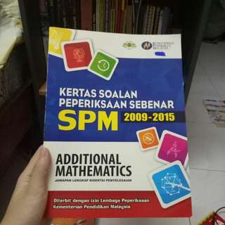 SPM Additional Mathematics 2009-2015