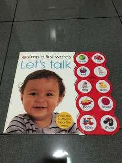 Let's Talk, Children Learning Book