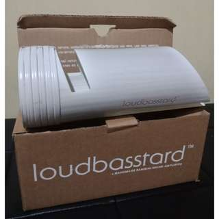 LOUDBASSTARD BAMBOO SPEAKERS/ SOUND AMPLIFIER DOCK - FOR MOBILE PHONES