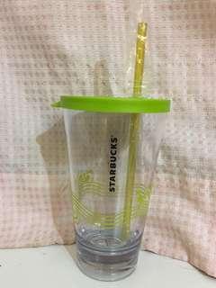 Starbucks 綠色簡約凍杯