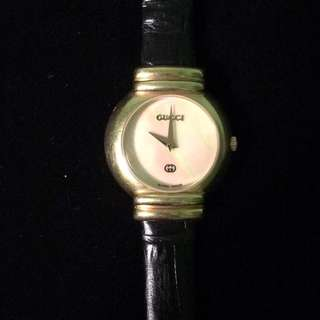 Vintage Gucci Gold and Mother of Pearl Watch