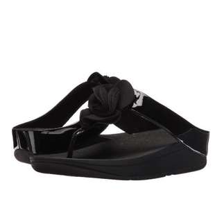 FitFlop Florrie Toe-Post | Black | US Women's Size 5,6,7,8,9,10,11 | Flip Flop Sandal Slipper