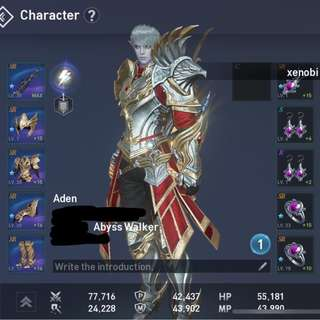 Selling Lineage 2 Revolution account (abysswalker)