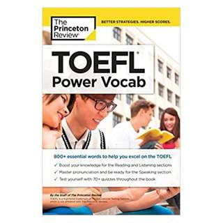 TOEFL Power Vocab: 800+ Essential Words to Help You Excel on the TOEFL (College Test Preparation) Kindle Edition by Princeton Review  (Author)