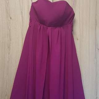 Convertible dress / bridesmaid dress / knee length / purple dress