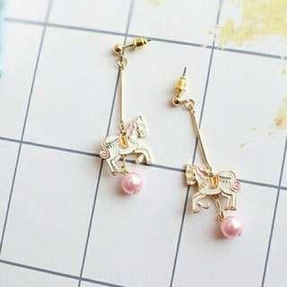 粉嫩🐎耳環~任選3件8折