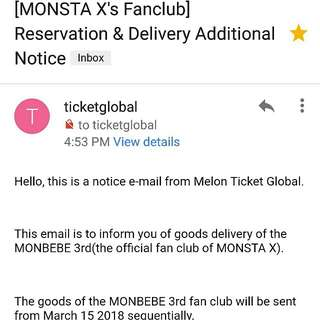 Monsta X 3rd Gen. Fan Club Kit