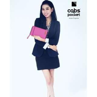 Cabs Pocket Slim - Dompet Murah Serbaguna, Dompet Anti Air, Dompet Lokal Organizer, HPO Unik Untuk Pria & Wanita - Pink