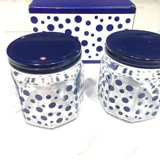超低價👍點點收納罐*2 玻璃密封罐