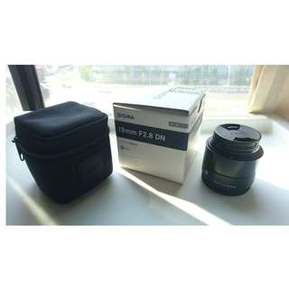 Sigma 19mm 2.8 Lens